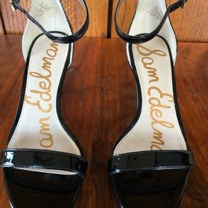 Sam Edelman Ankle Strap Patent Leather Sandal